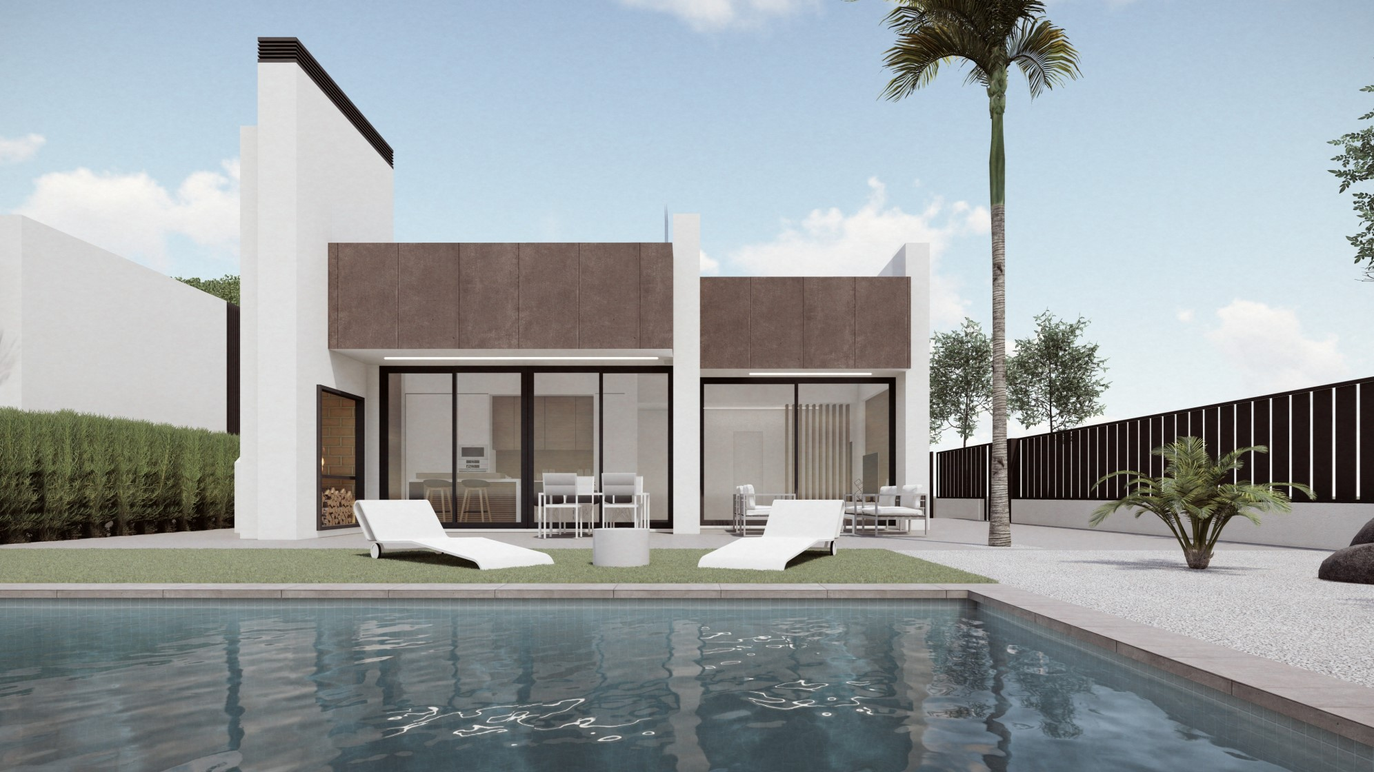 Large Modern villa with pool